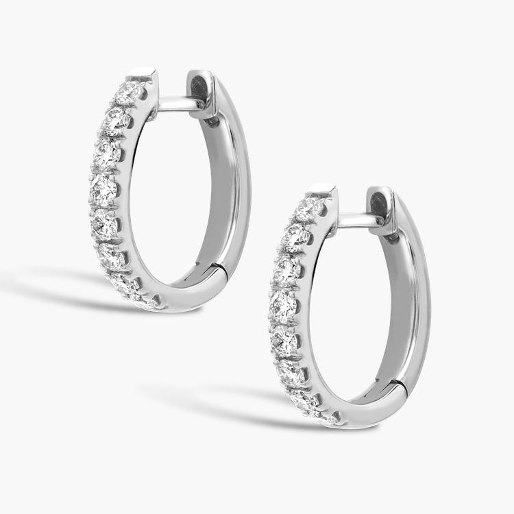Brilliant Cut Diamond Hoop Earrings 0.45CT in 18CT White Gold Brilliant cut, Claw set_2