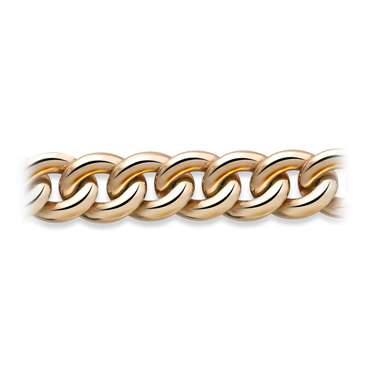 Curb Link Bracelet <br /> in Yellow Gold