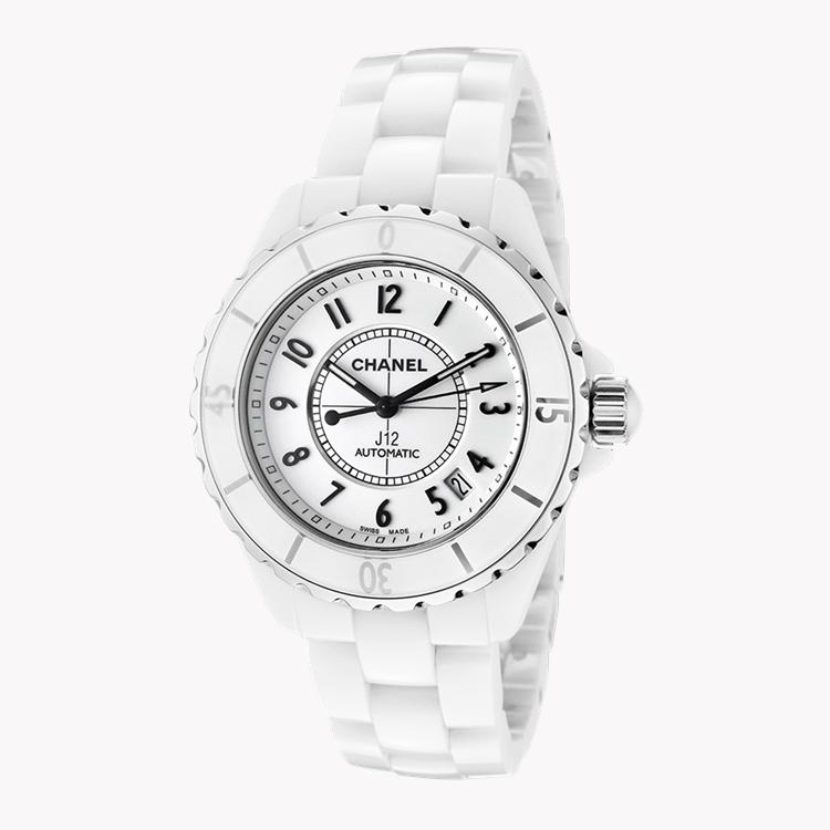 Chanel J12   H0970 38mm, White Dial, Arabic Numerals_1