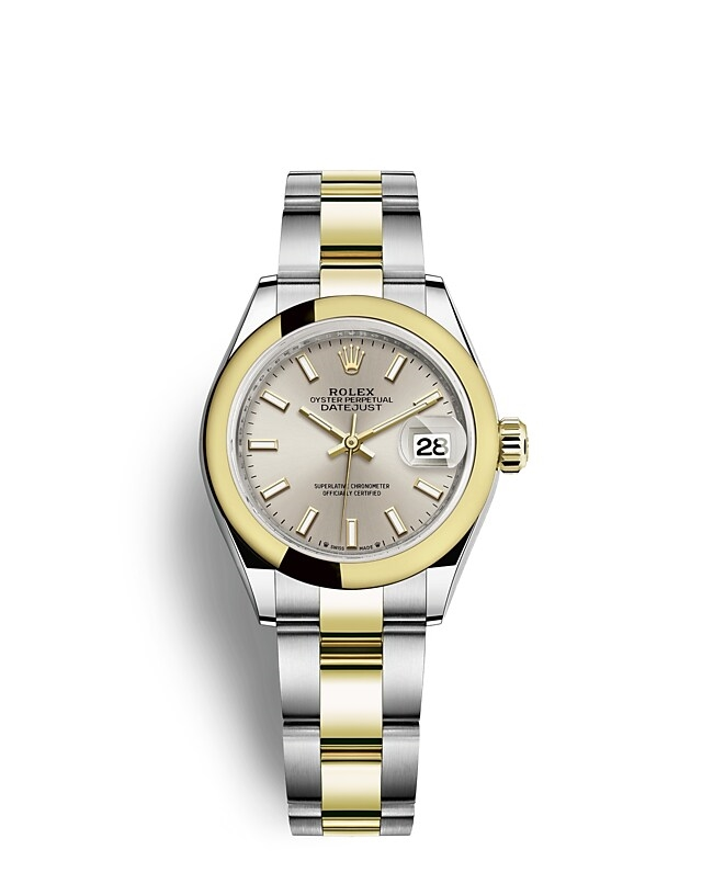 Lady-Datejust Oyster, 28 mm, Oystersteel and yellow gold