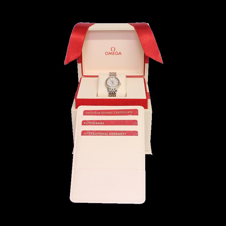 Omega De Ville Prestige  O42425246055001 24.4mm, Mother of Pearl Dial, Diamond Set_4