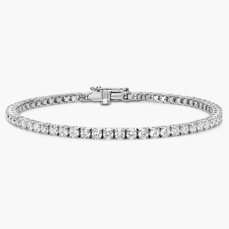 Brilliant Cut Diamond Line Bracelet 4.41CT in 18CT White Gold