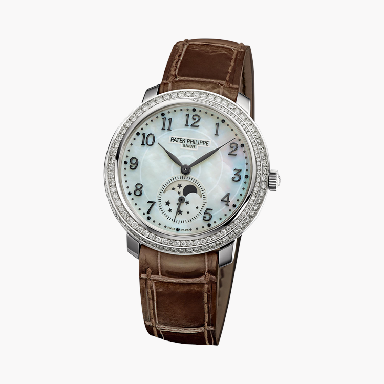 Patek Philippe Complications  4968G-010 33.3mm, White Mother of Pearl Dial, Arabic Numerals_2