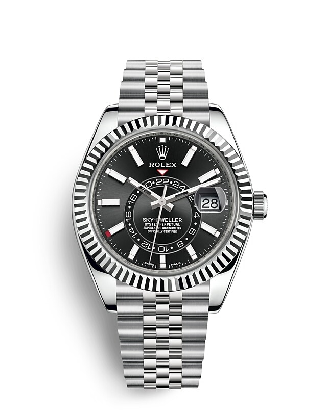 Sky-Dweller Oyster, 42 mm, Oystersteel and white gold