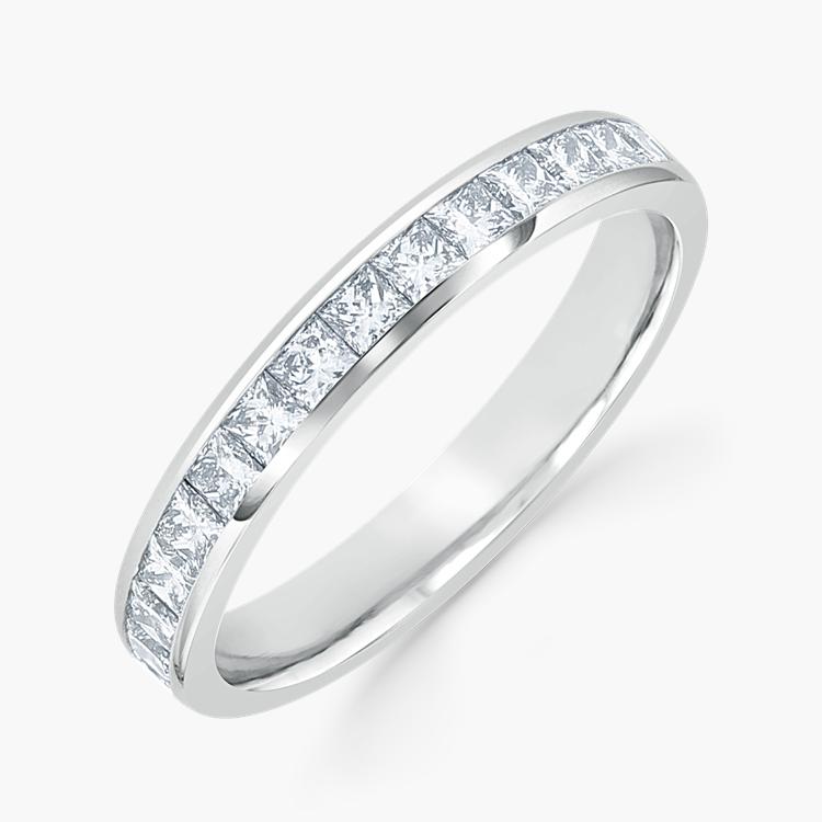 Princess Cut Diamond Eternity Ring 1.70CT in Platinum Princess Cut, Eternity, Channel Set_1