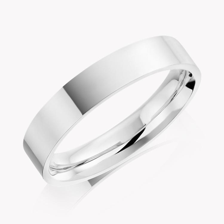 5mm Flat Court Wedding Ring in Platinum _1