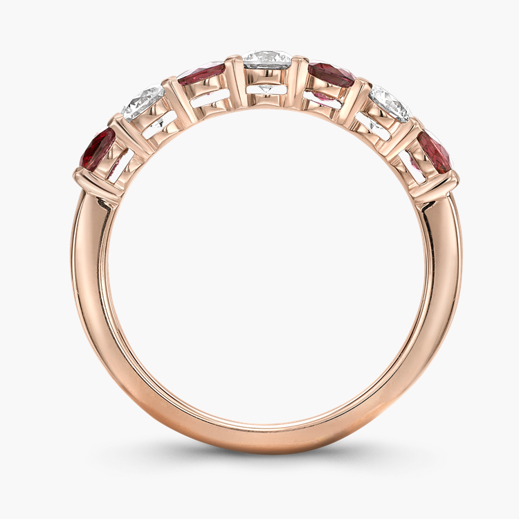 Ruby and Diamond Seven-Stone Ring 1.24CT in 18CT Rose Gold Brilliant Cut, Seven-Stone, Claw Set_3