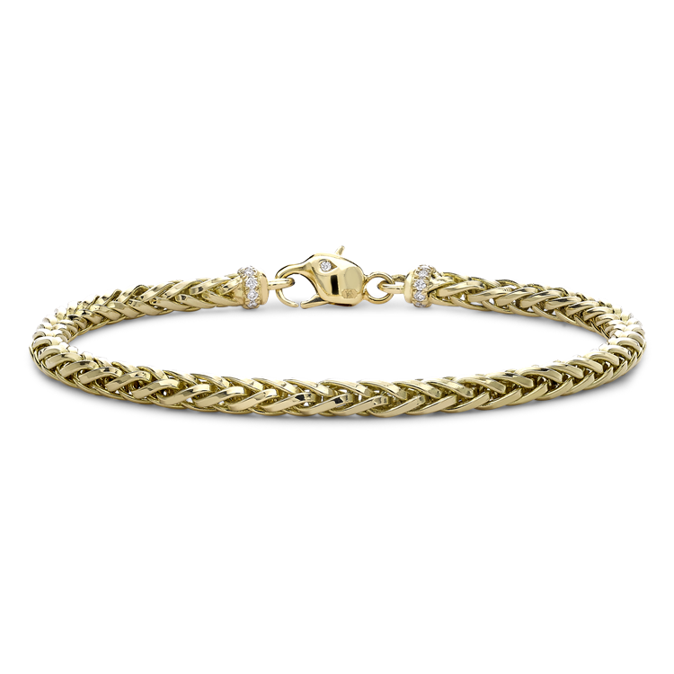 Skyfall 19cm Light Chain Bracelet<br /> in 18CT Yellow Gold
