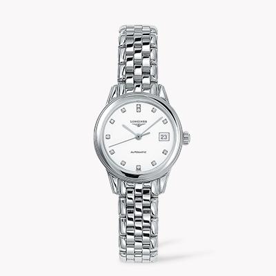 Longines Flagship   L4.274.4.27.6 26mm, White Dial, Diamond Numerals_1
