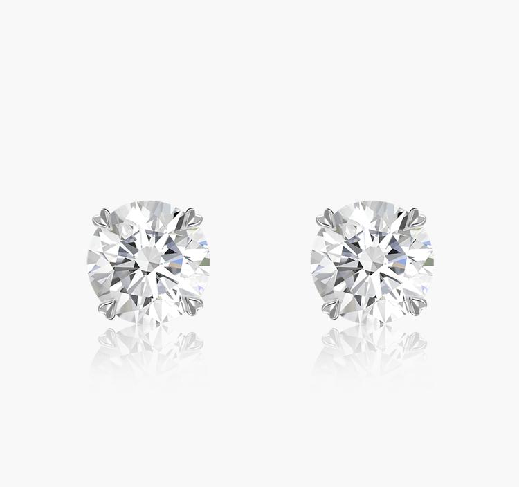Windsor Diamond Stud Earrings 1.01CT in 18CT White Gold