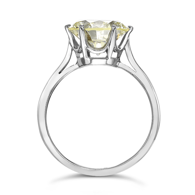 Diamond Solitaire Ring<br /> 3.95CT in Platinum