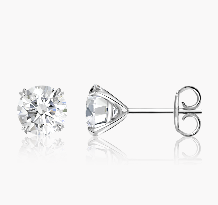 Windsor Diamond Stud Earrings 2.00CT in 18CT White Gold Brilliant cut, Claw set_2