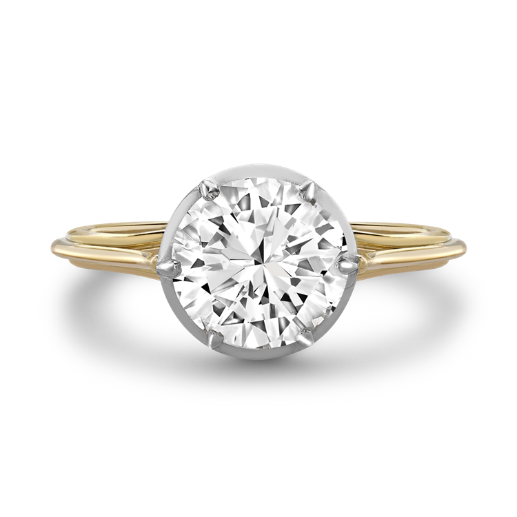 Brilliant Cut Diamond Ring 1.24CT in Yellow Gold & Platinum