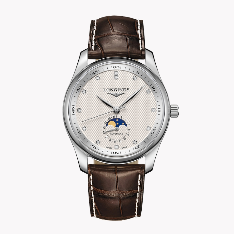 Longines Master collection   L2.909.4.77.3 40mm, Silver Dial, Diamond Numerals_1