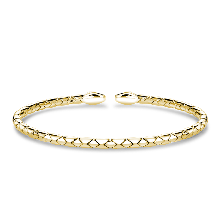 Groove Textured Bangle in 18CT Yellow Gold Brilliant Cut, Set_1
