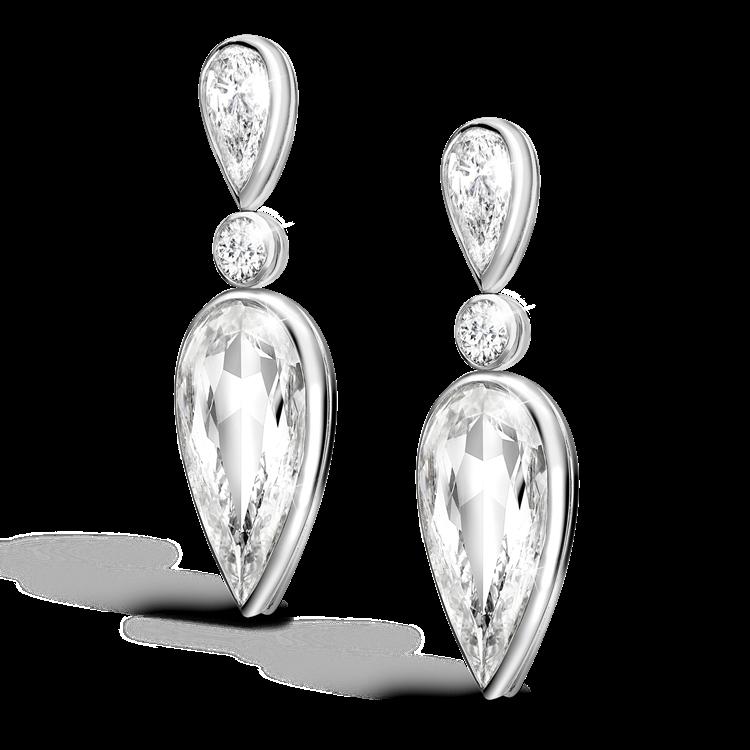 Masterpiece Pear Cut Diamond Earrings 6.08CT in White Gold Pear Cut_2