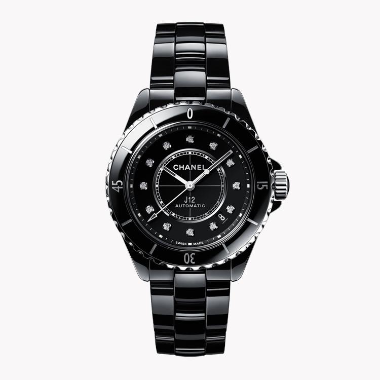 Chanel J12   H5702 38mm, Black Dial, Diamond Numerals_1