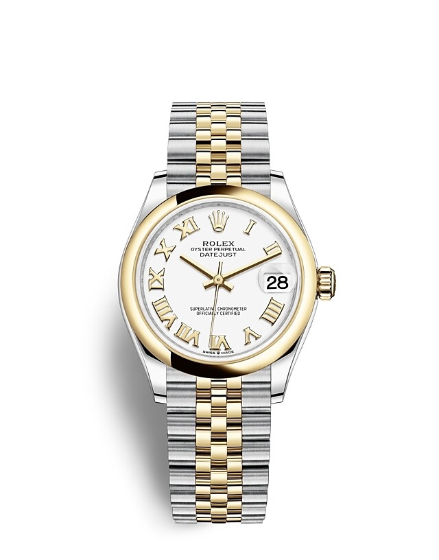 Datejust 31 Oyster, 31 mm, Oystersteel and yellow gold