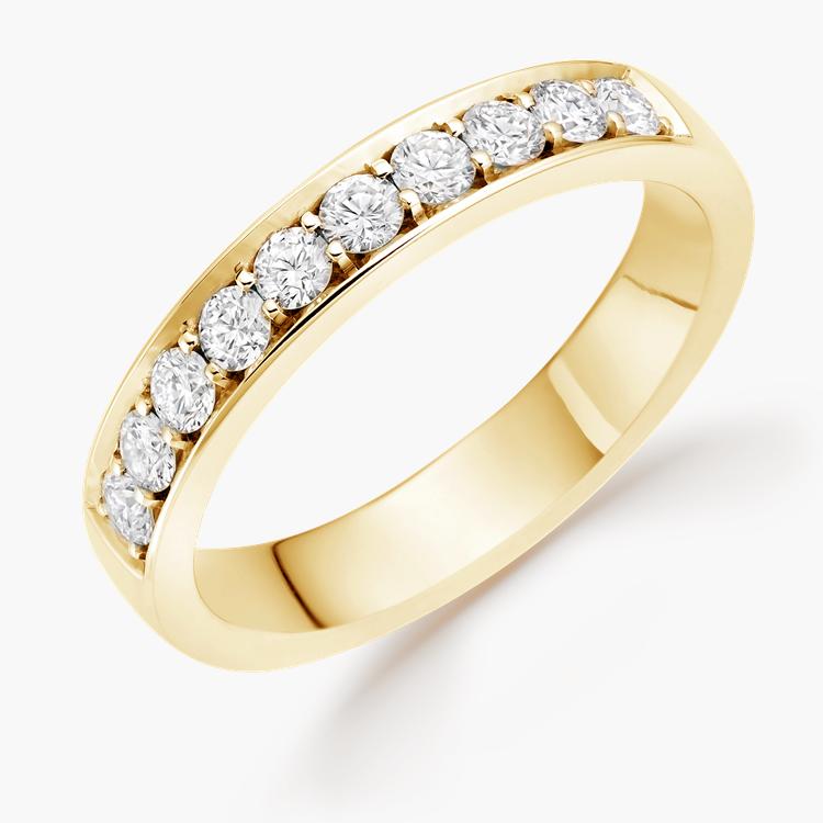 Brilliant Cut Diamond Half Eternity Ring 0.45CT in 18CT Yellow Gold Brilliant Cut, Half Eternity, Thread Set_1