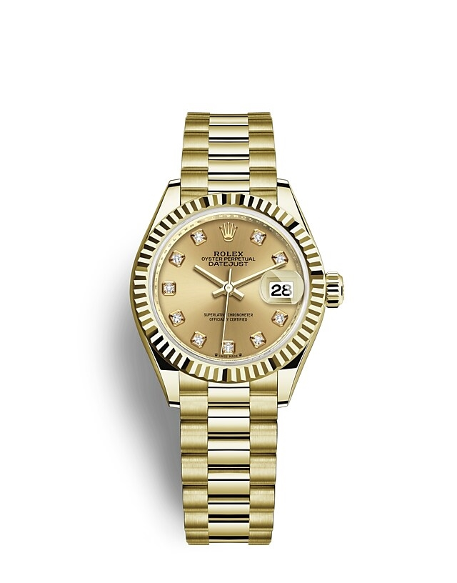 Lady-Datejust Oyster, 28 mm, yellow gold