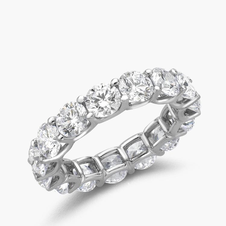 Brilliant Cut Diamond Eternity Ring 6.21CT in Platinum Brilliant Cut, Eternity, Claw Set_1