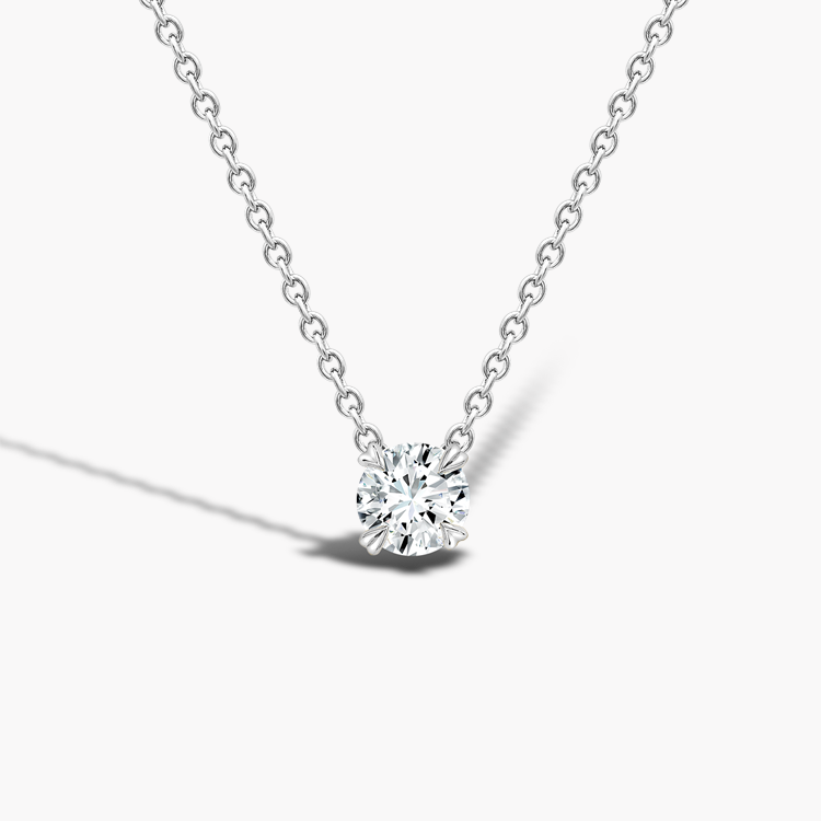 Windsor Diamond Pendant 0.40CT in 18CT White Gold Brilliant cut, Claw set_1