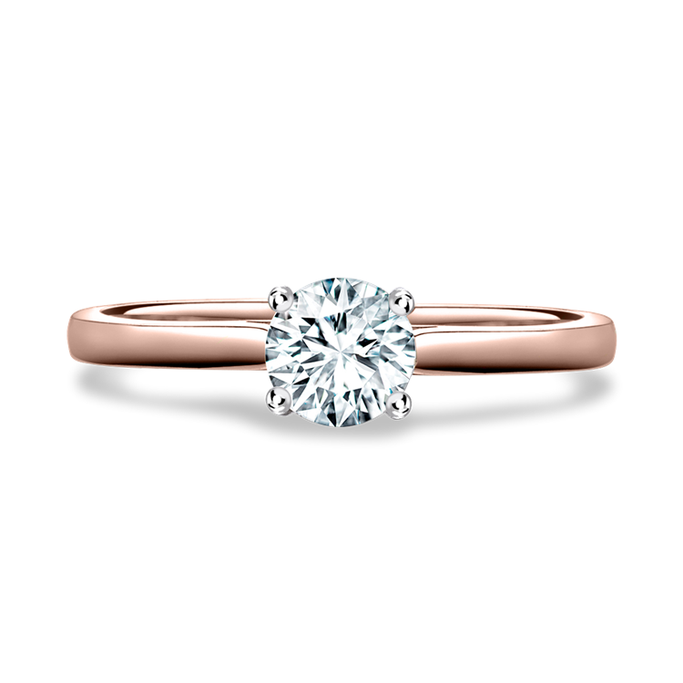 Diamond Ring 0.34CT in Rose Gold and Platinum