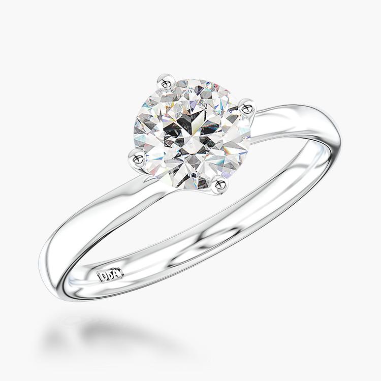 1.00CT Diamond Solitaire Ring Platinum Union Setting