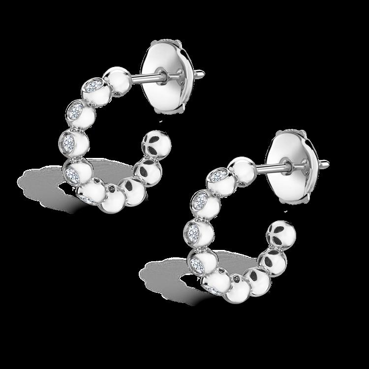 Bohemia Diamond Hoop Earrings<br /> 0.27CT in 18CT White Gold