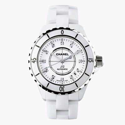 Chanel J12   H1629 38mm, White Dial, Diamond Numerals_1