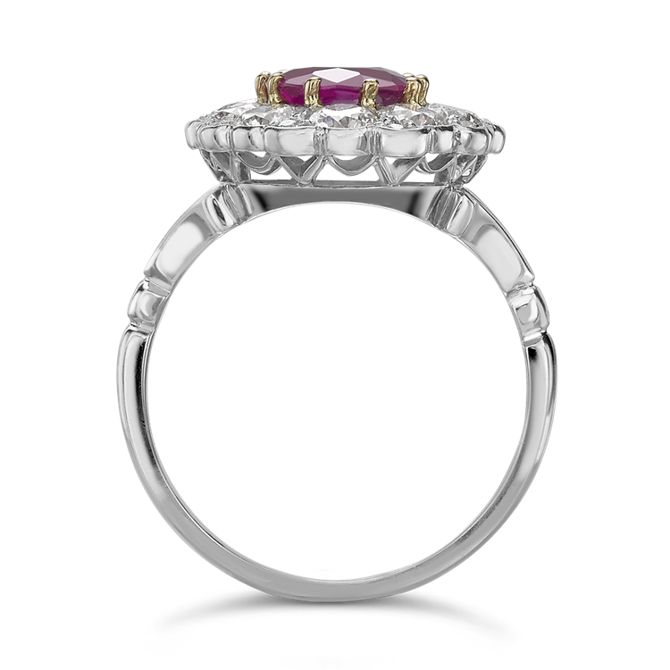 Present Day Pink Sapphire Ring<br /> 1.66CT in Platinum