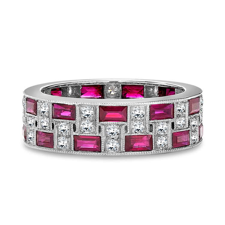 Manhattan Ruby Ring<br /> 4.14CT in Platinum