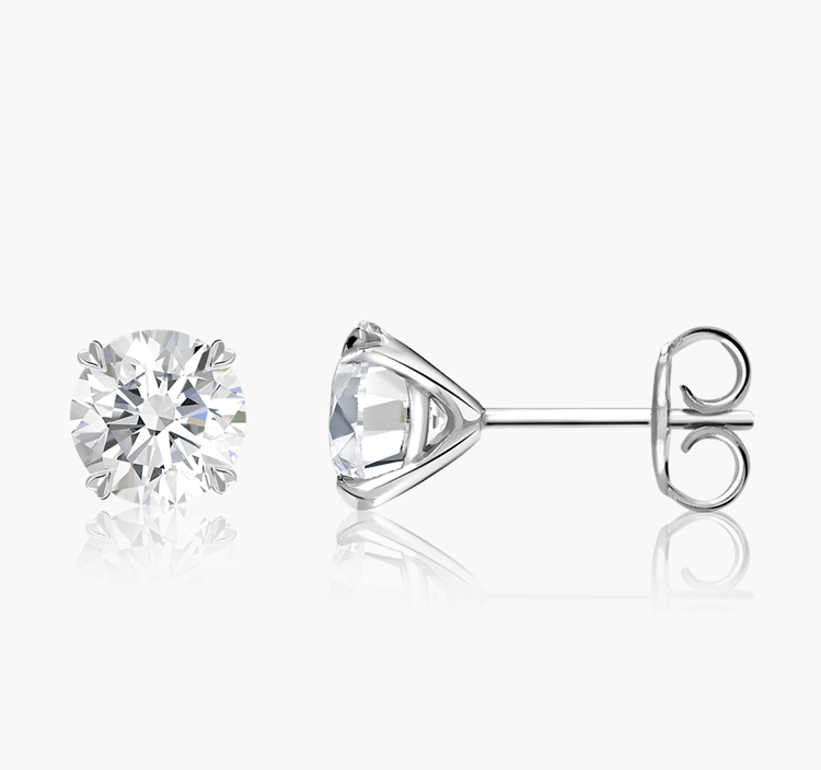 Windsor Diamond Stud Earrings 1.41CT in 18CT White Gold Brilliant cut, Claw set_2
