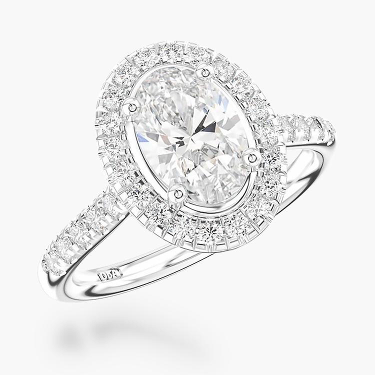 1.00CT Diamond Cluster Ring Platinum Celestial Setting