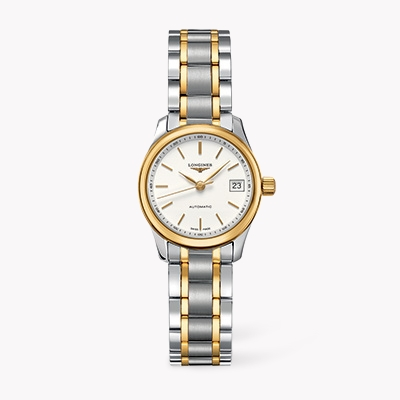 Longines Master collection   L2.128.5.12.7 25.5mm, White Dial, Baton Numerals_1