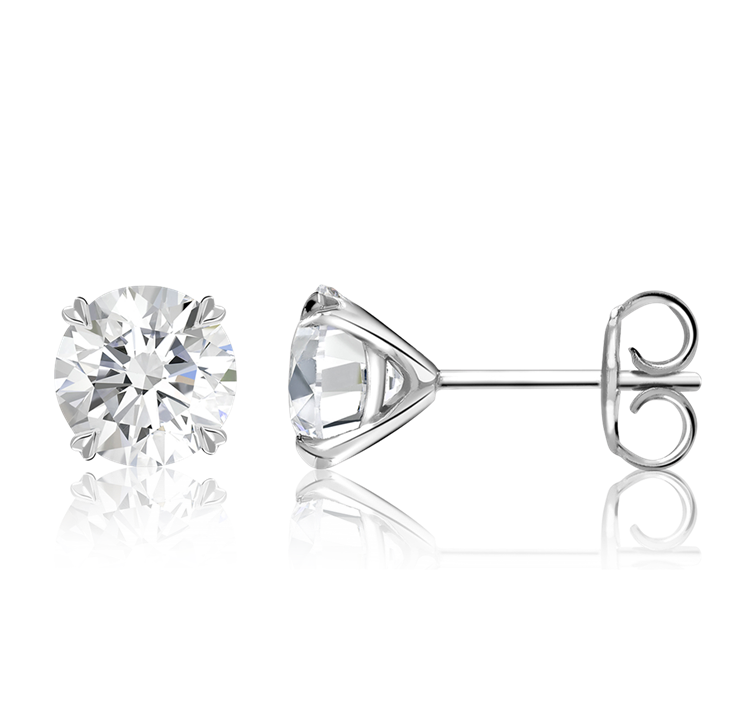 Windsor Diamond Stud Earrings<br /> 4.04CT in 18CT White Gold