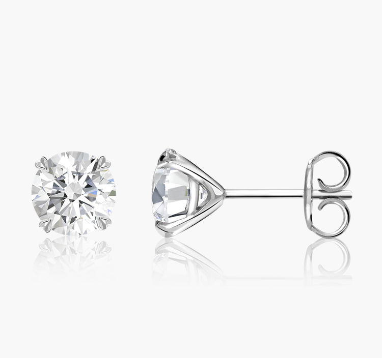Windsor Diamond Stud Earrings 1.80CT in 18CT White Gold Brilliant cut, Claw set_2