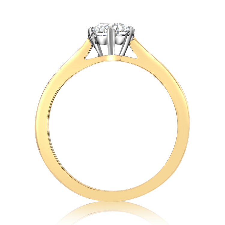 Windsor Diamond Ring<br /> 0.60CT in Yellow Gold and Platinum