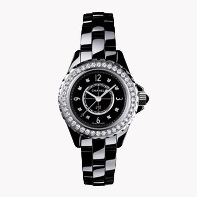 Chanel J12   H2571 29mm, Black Dial, Diamond Numerals_1
