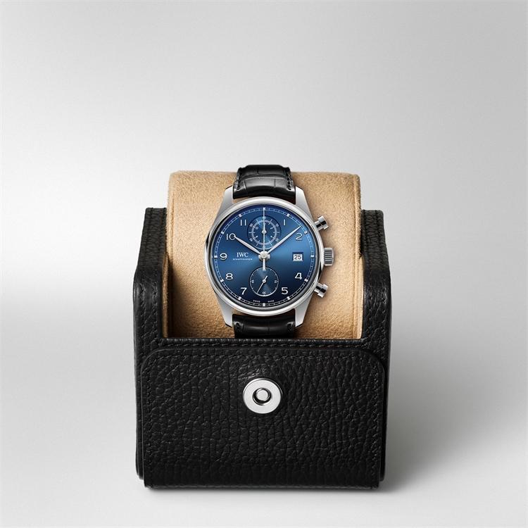 IWC Portugieser Chronograph Classic  IW390303 42mm, Blue Dial, Arabic Numerals_5