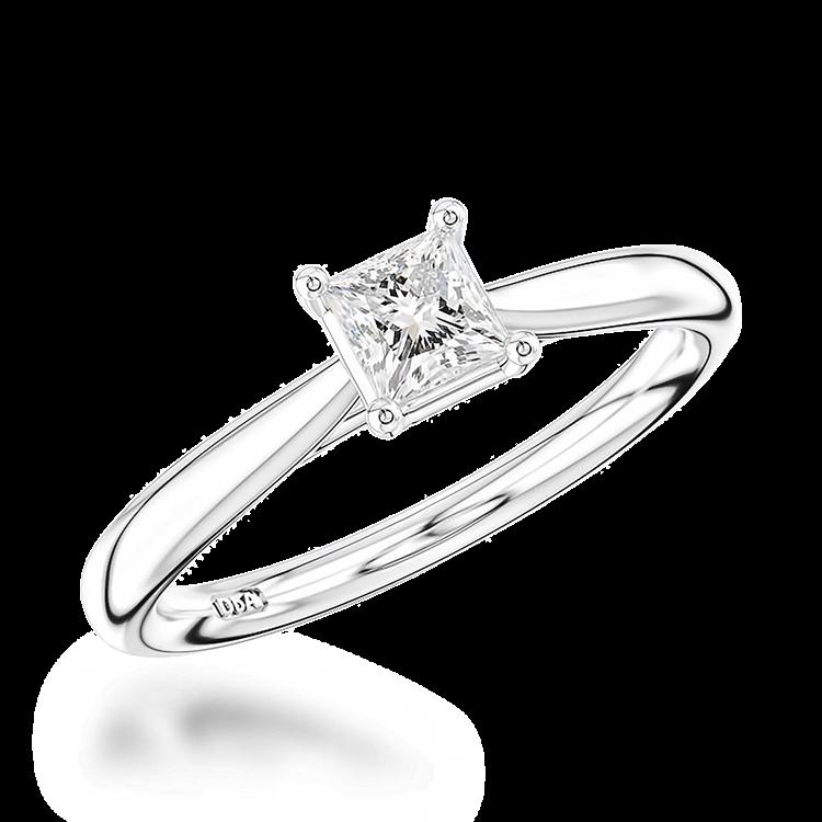 0.40CT Diamond Solitaire Ring Platinum Classic Solitaire Setting