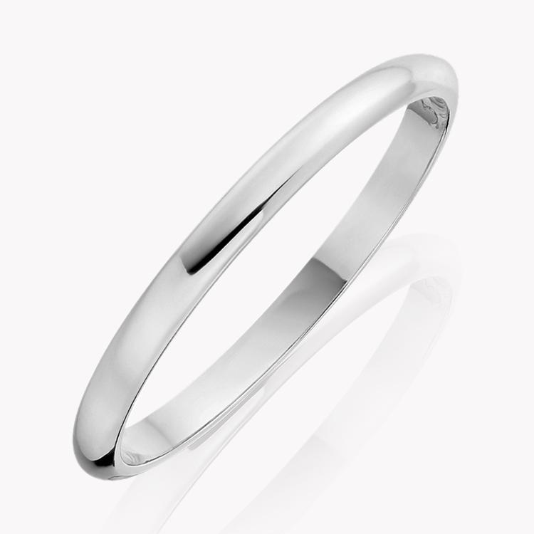2mm D-Shape Wedding Ring in Platinum _1