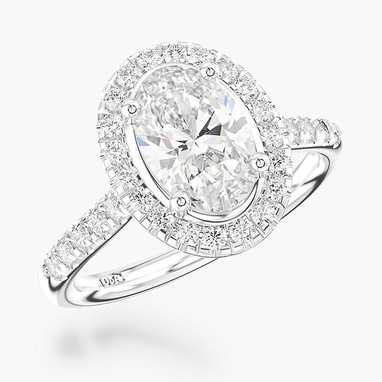1.20CT Diamond Cluster Ring Platinum Celestial Setting