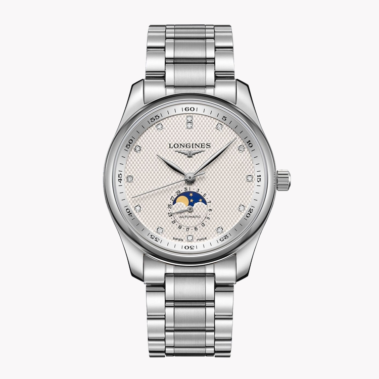 Longines Master collection   L2.909.4.77.6 40mm, Silver Dial, Diamond Numerals_1
