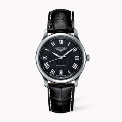 Longines Master collection   L2.628.4.51.7 38.5mm, Black Dial, Roman Numerals_1
