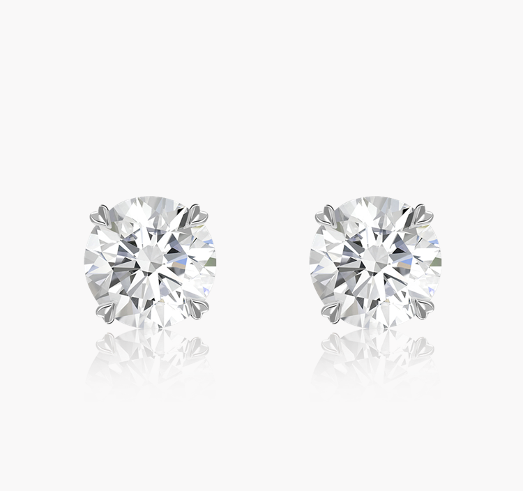Windsor Diamond Stud Earrings 1.41CT in 18CT White Gold Brilliant cut, Claw set_1