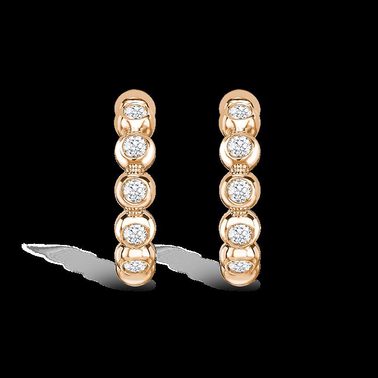 Bohemia Diamond Hoop Earrings<br /> 0.27CT in 18CT Rose Gold