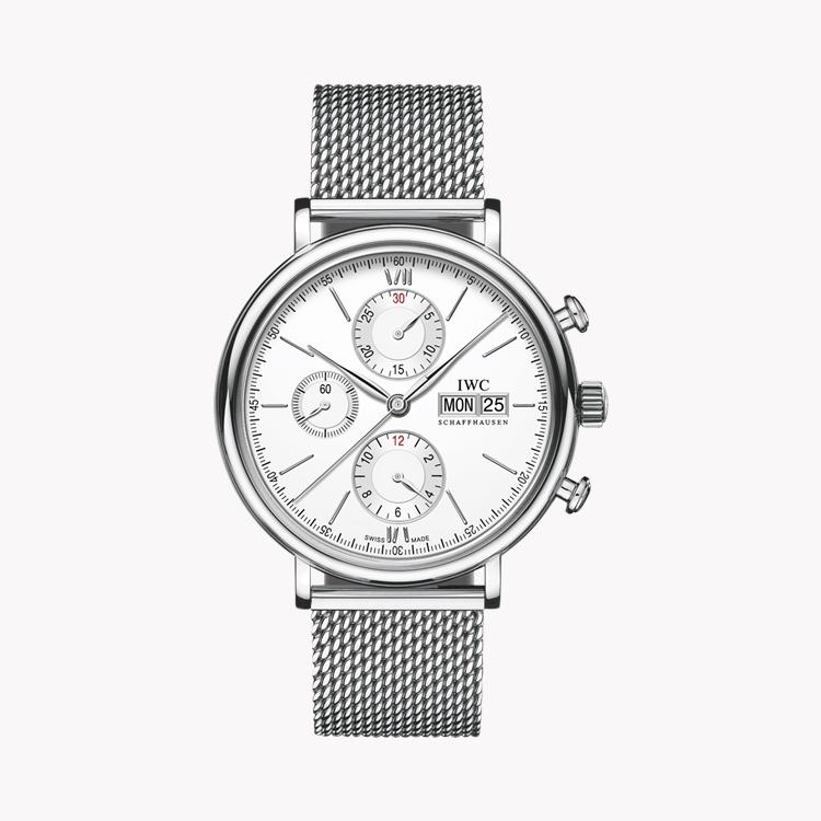 IWC Portofino Chronograph  IW391028 42mm, Silver Dial, Baton Numerals_1