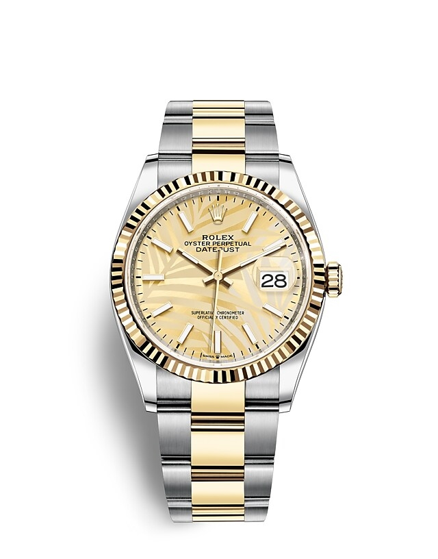 Datejust 36 Oyster, 36 mm, Oystersteel and yellow gold