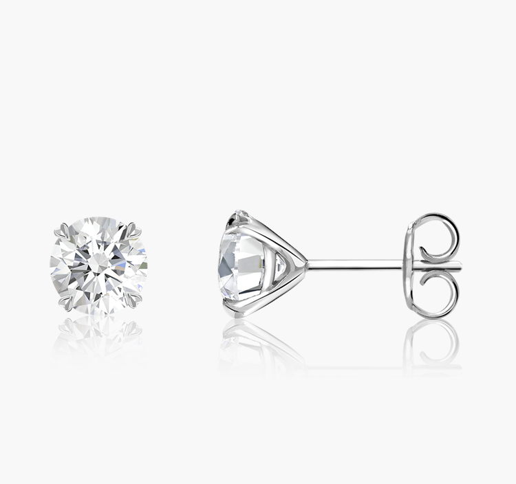 Windsor Diamond Stud Earrings 0.70CT in 18CT White Gold Brilliant cut, Claw set_2